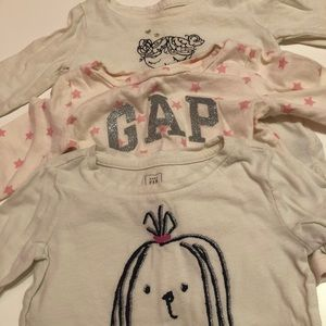 3 Baby GAP long sleeve T-shirts